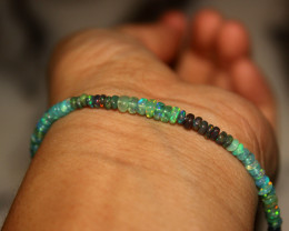 15 Crt Natural Ethiopian Welo Multi Color Opal Bracelet 158