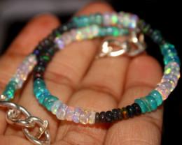 24 Crt Natural Ethiopian Welo Multi Color Opal Bracelet 122