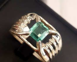 Natural Indicolite Tourmaline men Ring.