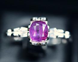 16.40Carats Natural top precious Corundum 925 Silver ring