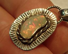 12.3ct Blazing Welo Solid Opal Pendant