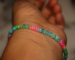 25 Crt Natural Ethiopian Welo Multi Color Opal Bracelet 159