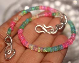 22 Crt Natural Ethiopian Welo Multi Color Opal Bracelet 109