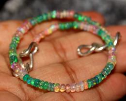 19 Crt Natural Ethiopian Welo Multi Color Opal Bracelet 123