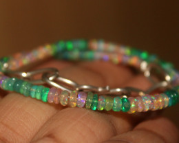 15 Crt Natural Ethiopian Welo Multi Color Opal Bracelet 155