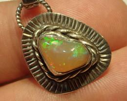 13.07ct Blazing Welo Solid Opal Pendant