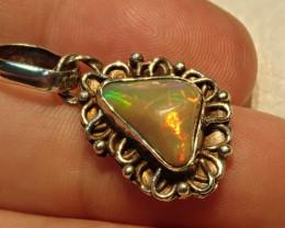 14.44ct Blazing Welo Solid Opal Pendant