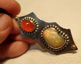 49.8ct Blazing Welo Solid Opal Pendant