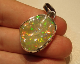 37.6ct Blazing Welo Solid Opal Pendant