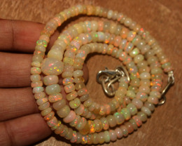 83 Crt Natural Ethiopian Welo Opal Necklace 189