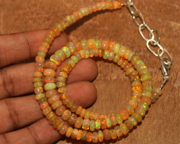 53 Crt Natural Ethiopian Welo Opal Necklace 768