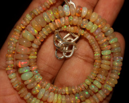 49 Crt Natural Ethiopian Welo Opal Necklace 771