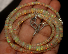 43 Crt Natural Ethiopian Welo Opal Necklace 1100