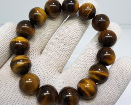 Natural Tiger Eye 296.00 Carats Bracelet