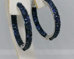 Blue Sapphire Earrings 3.50 TCW