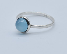 CHALCEDONY RING 925 STERLING SILVER NATURAL GEMSTONE JR843