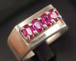 Natural Ruby men Ring.