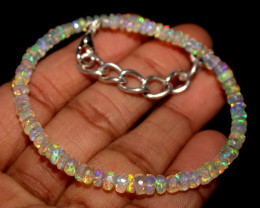 16 Crt Natural Ethiopian Welo Faceted Opal Bracelet 81