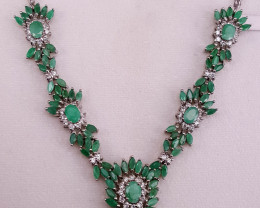 Natural Emerald Necklace.
