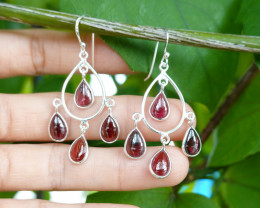 4.99g - 925 Sterling Silver Earrings with Natural Stone / JW30