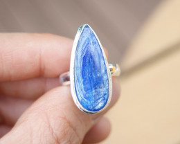 6.31g - 925 Sterling Silver Rings with Natural Stone / JW44