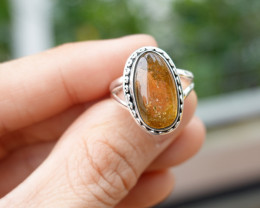 5.17g - 925 Sterling Silver Rings with Natural Stone / JW45