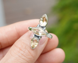 3.98g - 925 Sterling Silver Rings with Natural Stone / JW48