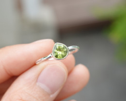 1.45g - 925 Sterling Silver Rings with Natural Stone / JW49