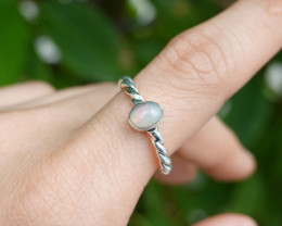 2.83g - 925 Sterling Silver Rings with Natural Stone / JW54