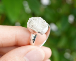 5.24g - 925 Sterling Silver Rings with Natural Stone / JW56