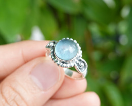 4.73g - 925 Sterling Silver Rings with Natural Stone / JW57