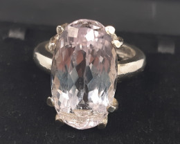 Silver Kunzite Rings