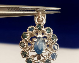 Natural Sapphire Pendent