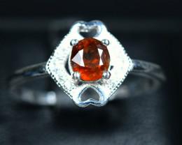 Natural top Bastnasite 925 Silver Ring Size -9