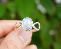 3.13g - 925 Sterling Silver Rings with Natural Stone / JW65