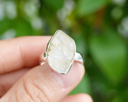 5.64g - 925 Sterling Silver Rings with Natural Stone / JW66