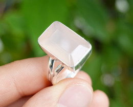 5.48g - 925 Sterling Silver Rings with Natural Stone / JW69