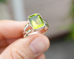 3.55g - 925 Sterling Silver Rings with Natural Stone / JW80
