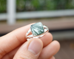 3.92g - 925 Sterling Silver Rings with Natural Stone / JW85