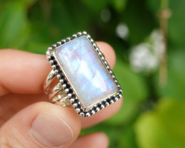 8.83g - 925 Sterling Silver Rings with Natural Stone / JW92