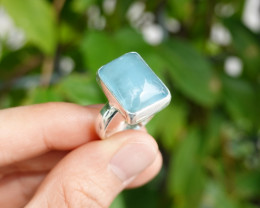 6.50g - 925 Sterling Silver Rings with Natural Stone / JW93