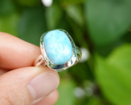 5.20g - 925 Sterling Silver Rings with Natural Stone / JW94