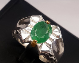 Gorgoues Natural Emerald Ring.