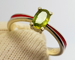 Natural Titanite (Sphene) CZ Ring 925 Sterling Ring (SEPIS)