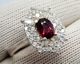 Natural Rhodolite Garnet Raspberry Color - 925 Sterling Silver