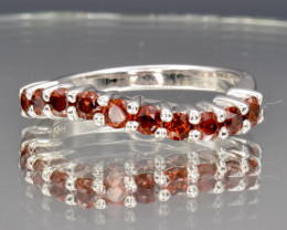 Natural Rhodolite and 925 Silver Ring