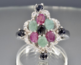 Natural Ruby, Emerald and Sapphire