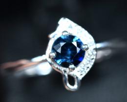 8.40Carats Heated Natural top blue vvsi Sapphire 925 Silver ring