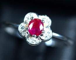 8.82Carats Natural precious top tajiki Red Ruby 925 Silver ring