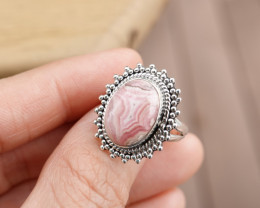 6.32g - 925 Sterling Silver Rings with Natural Stone / JW107